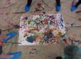 Hand painting Bild